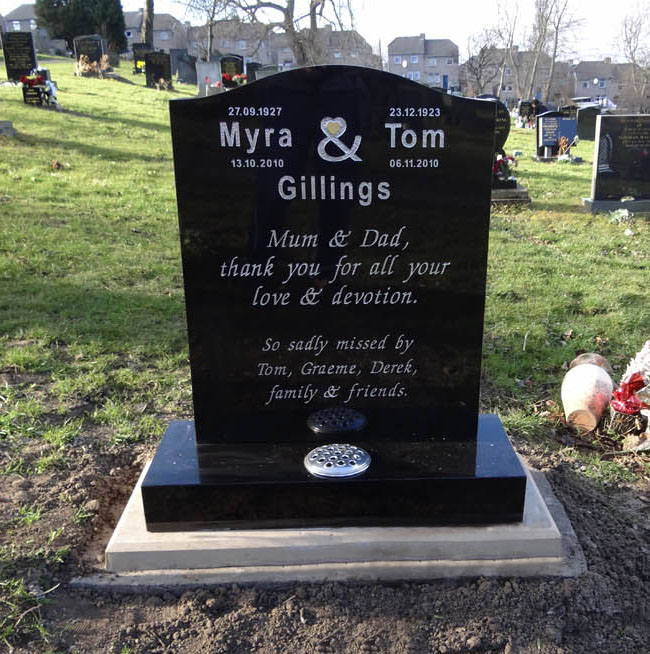 Tom and wife Myra Gillings